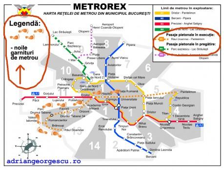 Noua hartă a metroului