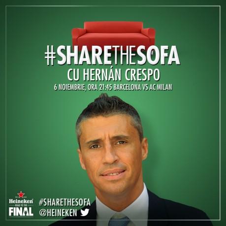 Hernan Crespo la #sharethesofa